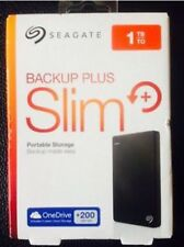 Seagate Backup Plus Slim 1TB USB 3.0 Portable 2.5 External Hard Drive Black