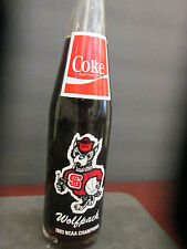 NORTH CAROLINA STATE WOLFPACK-COCA-COLA-1983 NCAA MEN'SBBALL CHAMPIONSHIP BOTTLE
