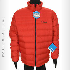 COLUMBIA SPORTSWEAR Men's X-LARGE RED DOWN JACKET Puffer COAT Water Resistant