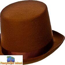 Indestructable brown Vieille Angleterre chapeau haut de poste rapide une Taille Hommes Fancy Dress