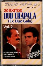DUO CHAPALA - 20 Exiitos Mexico - SPAIN CASSETTE Fonomusic 1988 - Ex Duo Gala