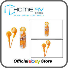 JVC HA-F160 Gumy In-Ear Headphones iPod/iPhone Compatible in Valencia Orange
