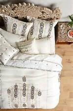 NWT Anthropologie Philosopher's Path Duvet Cover Queen Size Ivory Free Shipping
