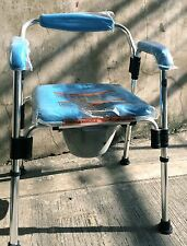 3-in-1 Aluminum Commode Chair with Backrest