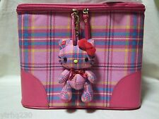 Hello Kitty 35th Tartan Plaid Cosmetics Vanity Bag Kawaii Sanrio 2009 NWT!