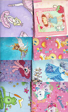 "HUGE LOT ASSORTED ""GIRLS"" FAT QUARTERS (20) NO DUPLICATES - FREE SHIPPING!!"