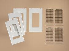 Auhagen H0 Baukastensystem 80709: 4 Wände 2342F, geputzt mit Industriefenster