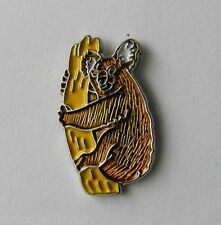 Wildlife Koala Bear Marsupial Brown Lapel Pin Badge 3/4 Inch