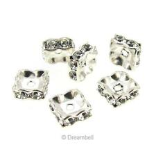 6x Swarovski Elements Silver Squaredelle Crystal Bead Spacer 5mm 1431370-5M