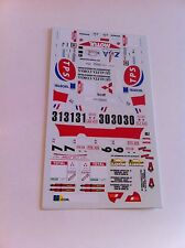 DECALS 1/43 MITSUBISHI LANCER EVO IV ANDREANI RALLYE ALSACE VOSGES 1998 RALLY