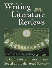 Writing Literature Reviews : A Guide for Students of the Social and...