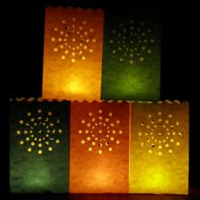 20cm Colour Nova Candle Bags - a pack of 10 red, orange, yellow, green and blue