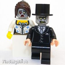 M709 W Lego Custom Zombie Bride & Custom Groom Halloween Minifigures NEW