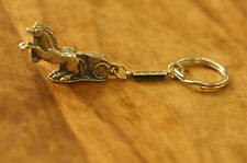 Ancient Greek Themed Keyring Key Chain - Silver Colour Chariot Zamac