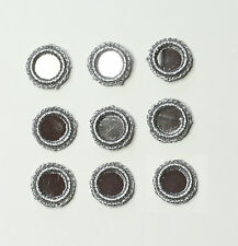 10 X Crochet Mirror Embellishments Motifs Size 2cm Colour: Metallic Silver