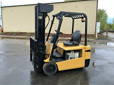 "CATERPILLAR ELECTRIC 3 WHEELER FB20NT 4000LB 240"" LIFT FORKLIFT LIFT TRUCK"