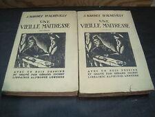 J. BARBEY D'AUREVILLY: Une vieille maitresse 2 volumes