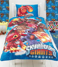 "Skylanders Giants Single Panel Duvet Cover & Matching 54"" Curtains Set Bed Gift"