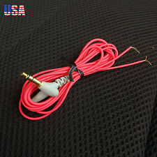 Red 1.2M DIY Replacement wire Audio Cable Headphone Repair Headset Cord Cable
