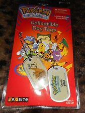 Pokemon Collectible Dog Tags # 128 Tauros 1999 Limited Edition New in Package