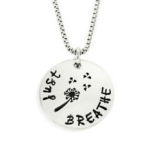 Just Breathe Stamped Necklace