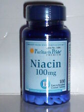 NIACIN 100MG ENERGY METABOLISM NERVOUS SYSTEM SKIN HEALTH SUPPLEMENT 100 TABS
