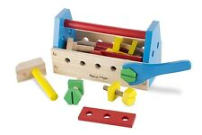 MELISSA & Doug LEGNO prendere lungo Tool Kit con gli strumenti di legno * NUOVA *