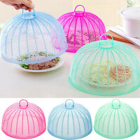 ROUND DOME PLASTIC MESH FOOD COVER KITCHEN CAKE COVER FOOD COVER FLY WASP 3C
