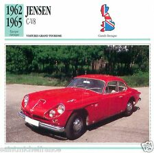 JENSEN C-V8 1962 1965 CAR VOITURE Great Britain GRANDE BRETAGNE CARTE CARD FICHE