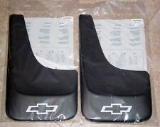 NEW 2007 2008 2009 2010 2011 2012 CHEVY SILVERADO MUD FLAPS BOWTIE OEM GM