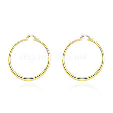 18K Yellow Gold Filled 55mm Large Light Weight Flat Round Hoop Earrings H815G