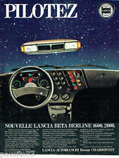 PUBLICITE ADVERTISING 1016  1980  La Lancia Beta berline  1600 2000 Chardonnet