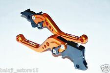 Orange Short 6 Position Adjustable Brake Clutch Levers KTM Duke/RC 200/390
