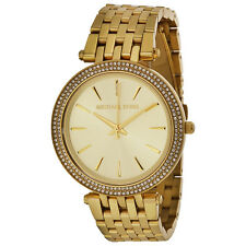 Michael Kors MK3191 Gold Darci Glitz Pave Crystal Bezel Ladies Watch