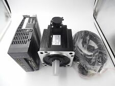 2KW 3PH 220V AC Servo Motor 7.7Nm and 2KW Motor Drive CNC Kit & 3M Cables 130mm