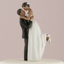 True Romance African American Groom Lifting Bride Wedding Cake Topper