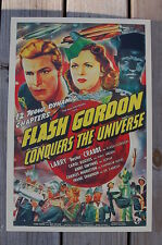 Flash Gordon Conquers The Universe Lobby Card Movie Poster Larry Buster Crabbe