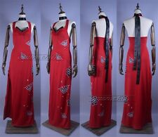 Resident Evil 5 Ada Wong Cheongsam Cosplay Hallowee Costume Any Size