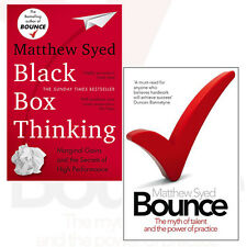 Matthew Syed 2 Books Collection Set (Black Box Thinking,Bounce) Paperback New