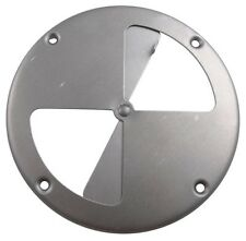 "(1) Butterfly Vent - 7-1/4"" Round Polished Aluminum Vent Horse Stock Dog Trailer"