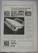 1967 NSU 110 SC Original advert
