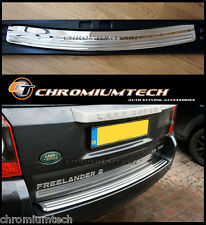 Stainless Steel Rear Bumper Protector/Tread Plate Cover for 2011-15 Freelander 2