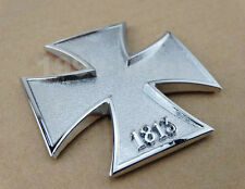 Motorcycle Chrome Metal 1813 Cross Gas Tank Fairing 3M Decal Sticker For Suzuki