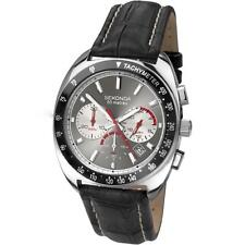 Sekonda 3509 Chronograph Tachymeter 50m Leather Sports Retro Watch RRP£89.99