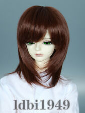 "1/3 8-9"" BJD Doll Wig for Blythe LUTS Pullip SD DD LUTS Short Brownt Hair 4"
