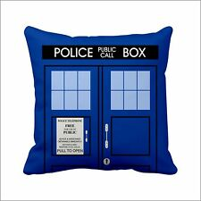 "14"" Handmade Satin Pillow Case Doctor Who Gift Tardis Cushion Police  Dr. Who"
