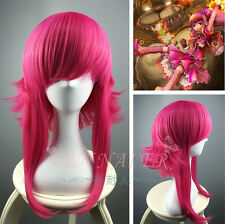 LOL League Legends Annie wig Long Pieces of red Cosplay Anti- Alice Hair Wigs #6