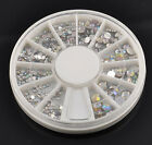 5 Size 800 pcs Wheel 3D Nail Art Tips Crystal Glitter Rhinestone Decoration LS87