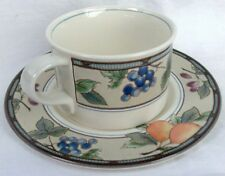 Mikasa Intaglio Garden Harvest Flat Cup And Saucer Set
