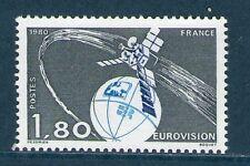 TIMBRE 2073 NEUF XX LUXE - TRANSMISSION DE L'EUROVISION PAR SATELLITE